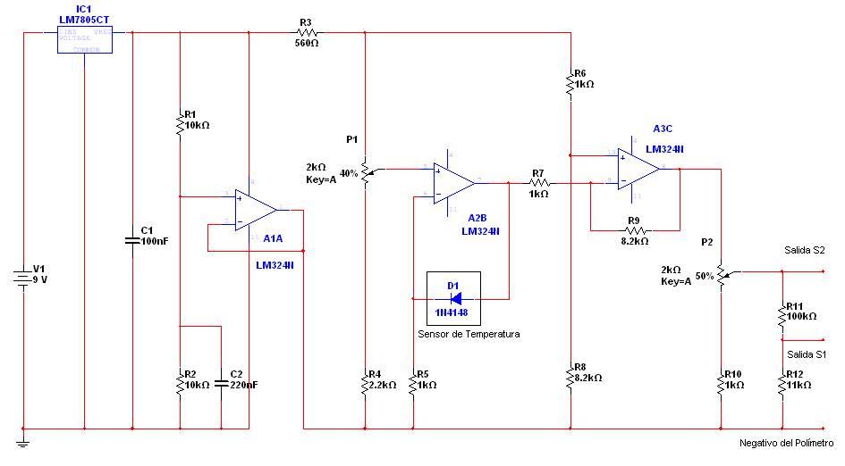 Termometro para multimetro (tester)